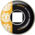 Buy Element Section Core White Black Yellow Skateboard Wheels - 54mm 95a (Set of 4) by Element