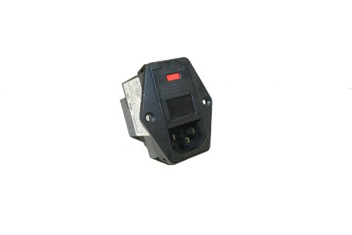 Interpower 83543040 Three Function Single Fuse Power Entry Module, C14 Inlet, Single Fused, Filter, 6A Current Rating, 120/250VAC Voltage Rating (Iec Power Cord Filter compare prices)