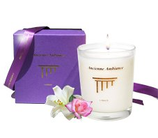 Persia - Red Rose Jasmin Scented Candle Gift Boxed from Ancienne Ambiance