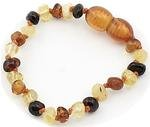 The Art Of Curetm Baltic Amber Baby Teething Bracelet - Multicolored - (Unisex) - Certified Baltic Amber Baby Teething Bracelet Highest Quality Guaranteed- Anti Inflammatory, Drooling & Teething Pain. Easy To Fastens With A Twist-In Screw Clasp Mothers Ap