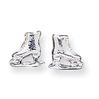 Sterling Silver Ice Skate Mini Post Earrings