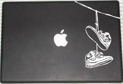Cold-blooded Shoes Hanging Laptop Decal � 2013 Laced up Decals