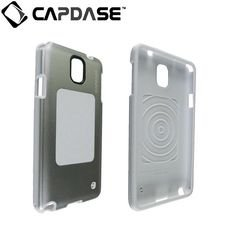 Capdase Alumor Jacket Elli Back Case / Cover for Samsung Galaxy Note 3 - Silver / White (MTSGNOTE3-51S2)