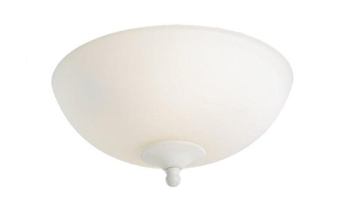 Monte Carlo MC189-L 2-Light Mini Bowl Fan Light Kit, Matte Opal Finish