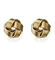 M&S Collection Gold Plated Knot Stud Earrings