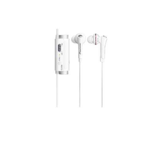 Pioneer Noise Cancelling In-Ear Headphones | Se-Nc31C-W White (Japanese Import)