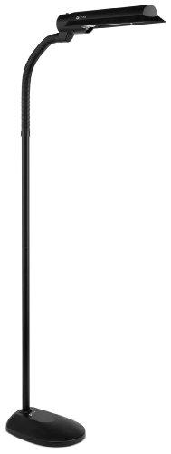 OttLite T81G5T Wing Shade Floor Lamp in Black