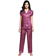 Per Una Revere Collar Spotted Satin Pyjamas