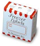 White and Red 1 x 2 Inch Freezer Labels, Set of 100