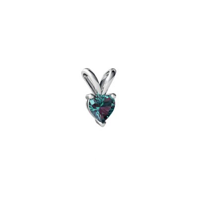 Created Alexandrite 14ct White Gold Pendant