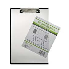 Baumgartens BAUTA1611 Double Panel See-Thru Clipboard- 9in.x13-.50in.- Clear