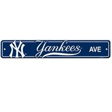 New York Yankees Plastic Street Sign
