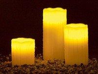 Lunartec LED-Echtwachskerzen & Fernbedienung