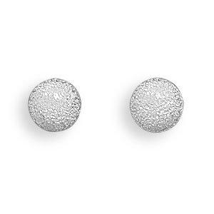 Sterling Silver 6mm Stardust Ball Post Earrings - JewelryWeb