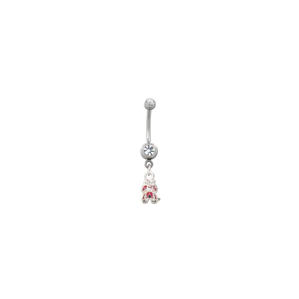 University of Navada, Las Vegas Rebels 316L Stainless Steel Belly Ring