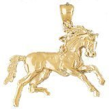 CleverEve 14K Yellow Gold Pendant Horse 6.9 Grams