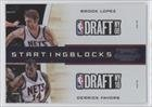 Buy Brook Lopez Derrick Favors New Jersey Nets (Basketball Card) 2010-11 Playoff Contenders Patches Starting Blocks #4 by Playoff Contenders Patches