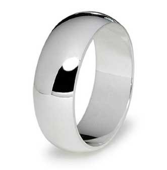 7MM High Polished Stainless Steel Wedding Band