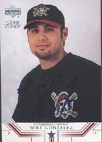 Mike Gonzalez Altoona Curve - Pirates Affiliate 2002 Upper Deck Star Rookie... by Hall of Fame Memorabilia