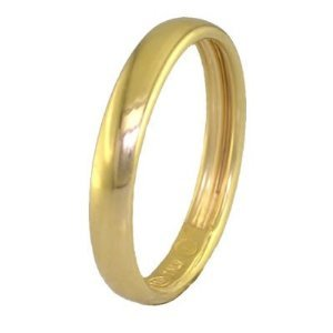 3MM Made in Italy Gold Plated Wedding Band in Sterling Silver (Available in Sizes 5 - 13) by FineDiamonds9