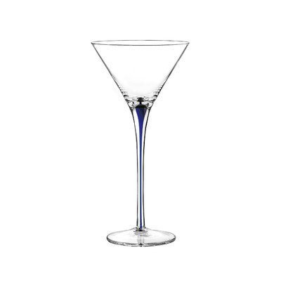 Tempest Cobalt Martini Glass (Set of 4) by Qualia Glass