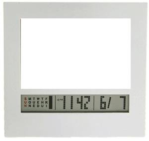 Electronic picture frame & LCD calendar & alarm by Kikkerland - 2x3