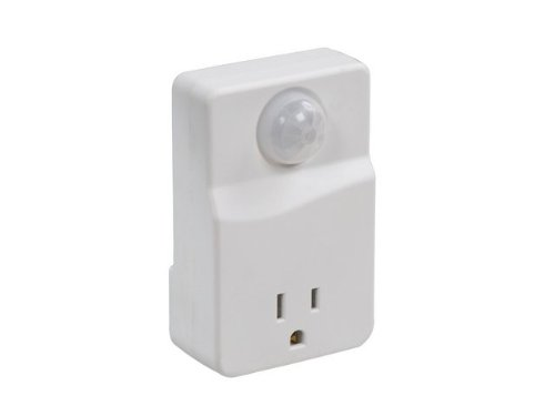Westek MLC6BC Indoor Motion Activated Light Control with Selectable Off Times, White