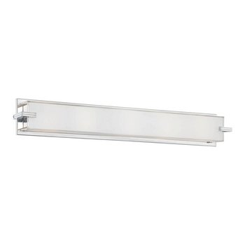 "Kovacs P5217 5 Light 30"" Ada Bathroom Vanity Light From The Cubism Collection, Chrome"