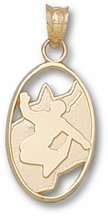 Snowboarder Silhouette Pendant - 10KT Gold Jewelry