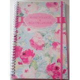 1 X Bill Organizer and Home Finance with Pockets (Pastel Roses)