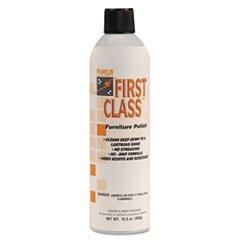 (3 Pack Value Bundle) FRKF801015 First Class Furniture Polish, Lemon, 15.5 oz Aerosol Can