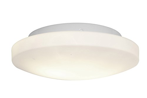 Access Lighting 50160-Wh/Opl Orion Two Light 11-Inch Diameter Flush Mount With Opal Glass Shade, White Finish