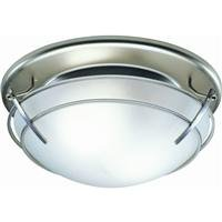 Broan 757SN Decorative Ventilation Fan and Light, 80 CFM 2.5 Sones, Satin Nickel and Frosted-Glass Shade