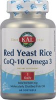 buy Kal - Red Yeast Rice Coq10 & Omega 3, 60 Softgels
