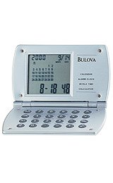 Bulova Excel Home and Office Grey Digital Dial Alarm Clock #B6810