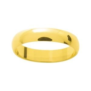 So Chic Jewels - 9k Yellow Gold 4 mm Classic Wedding Band Ring