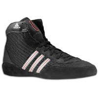 adidas Combat Speed III Wrestling Shoes - SIZE: 11 1/2, COLOR: Black/Silver/Red