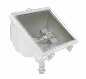 Hubbell Outdoor Lighting Q-500-W Q-Series Quartz Floodlight, White