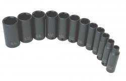 Socket Set Impact 3/8In. Drive 12 Pc Deep Sae