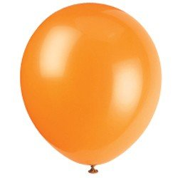 10 Count 12'' Pumpkin Orange Helium Quality Balloons