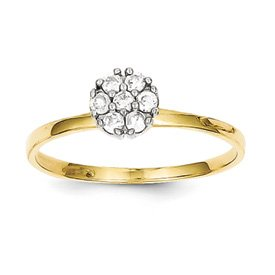 Genuine IceCarats Designer Jewelry Gift 10K Cz Cluster Promise Ring Size 6.00