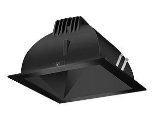 Rab Lighting Ndled4S-80Y-B-B Led Trim Mod- 4 Square 3K 80-Degree Black Ring With Black Cone