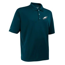 Philadelphia Eagles Green Exceed Desert Dry Polo Shirt by Wrigleyville Sports