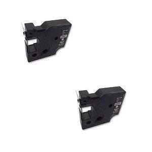 2 x Compatibile Nastro Dymo D1 45023 Bianco su Oro (12mm x 7m) per Electronic Labelmakers