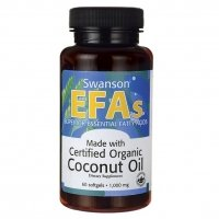Swanson Certified Organic Coconut Oil (1,000mg, 60 Softgels)
