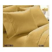 Solid Gold 300 Thread Count Twin Extra Long Size Sheet Set 100 % Egyptian Cotton 3Pc Bed Sheet Set (Deep Pocket)Xl Twin By Sheetsnthings