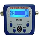 AGPtek Good For Campers Digital Satellite Signal Meter Finder Meter For Dish Network Directv FTA LCD Graphic Display Backlight Compass Buzzer Control (Tamaño: LCD2)