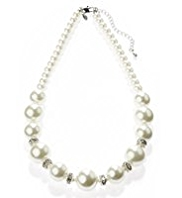 M&S Collection Pearl Effect Bauble Bead Necklace
