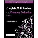 img - for Complete Math Review for the Pharmacy Technician (3rd, 10) by A, William - Hopkins, Jr [Paperback (2010)] book / textbook / text book