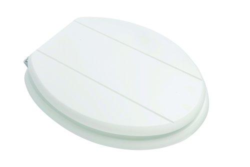 Croydex Premium Wood Toilet Seat, White